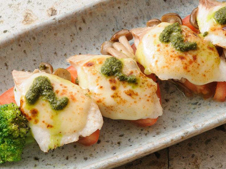 真鯛とモッツァレラチーズのオーブン焼き