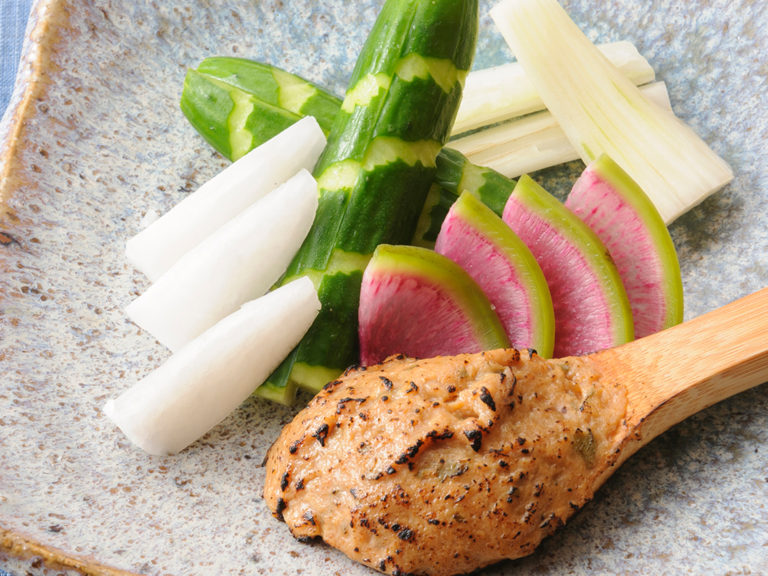 フレッシュ野菜と自家製魚味噌